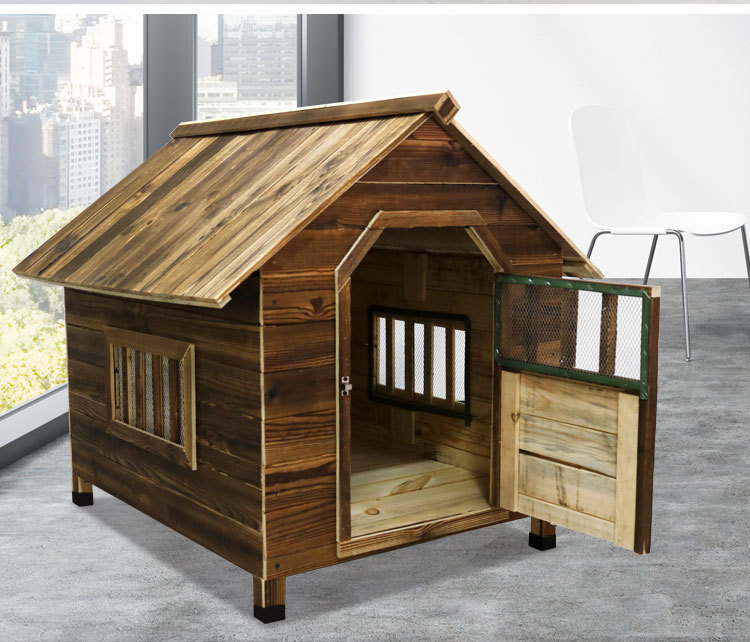 10mm Assemlable Carbonized wood dog house